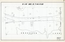 Sec 13, T 116, R 22, Anderson Lake, Unmeandered Lake, US Hwy No 494, Hennepin County 1953 Revised 1963 Vol 2