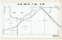 Sec 16, T 120, R 23, Wright County, Crow River, Great Northern RR, New State Hwy No 102, Hennepin County 1953 Revised 1963 Vol 2