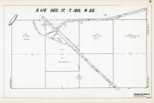 Sec 17, T 120, R 23, Crow River, Town Rd, State Hwy No 152, Hennepin County 1953 Revised 1963 Vol 2