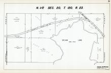 Sec 20, T 120, R 23, County Rd No 119, State Hwy No 152, Sylvan Lake, Hennepin County 1953 Revised 1963 Vol 2