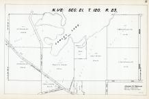 Sec 21, T 120, R 23, Cowley Lake, State Hwy No 152, Scherber, Ghostley, Hennepin County 1953 Revised 1963 Vol 2
