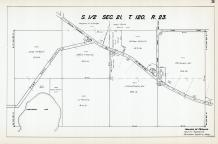 Sec 21, T 120, R 23, Unmeandered Lake, Ghostly Rd, State Hwy No 152, Hennepin County 1953 Revised 1963 Vol 2