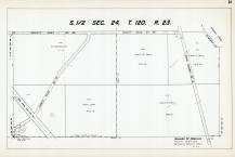Sec 24, T 120, R 23, New State Hwy No 152, State Hwy No 101, Grass Lake, Hennepin County 1953 Revised 1963 Vol 2