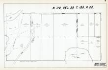 Sec 25, T 120, R 22, Lemons Lake, Hayden Lake Rd, Hennepin County 1953 Revised 1963 Vol 2