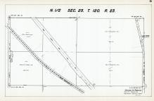 Sec 25, T 120, R 23, Great Northern RR, County Rd No 114, State Hwy No 101, Hennepin County 1953 Revised 1963 Vol 2
