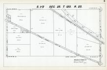 Sec 25, T 120, R 23, State Highway No 102, Great Northern RR, New State Hwy No 152, Hennepin County 1953 Revised 1963 Vol 2