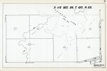 Sec 26, T 120, R 22, Elm Creek, Haydens Lake, Banks, Blesi, Hennepin County 1953 Revised 1963 Vol 2