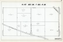 Sec 26, T 120, R 23, State Hwy No 152, County No 150, Great Northern RR, County Rd No 114, Hennepin County 1953 Revised 1963 Vol 2
