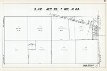 Sec 26, T 120, R 23, State Hwy No 152, County Rd No 114, Scharber, Weber, Nellis, Hennepin County 1953 Revised 1963 Vol 2