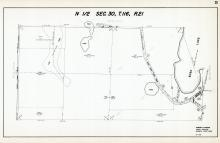 Sec 30, T 116, R 21, Bush Lake, West Bush Lake Rd, County Rd No 18, Hennepin County 1953 Revised 1963 Vol 2