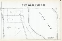Sec 30, T 120, R 22, French Lake, State Hwy No 101, Hennepin County 1953 Revised 1963 Vol 2