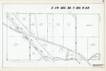 Sec 32, T 120, R 22, Great Northern RR, New State Hwy No 152, Rush Creek, Hennepin County 1953 Revised 1963 Vol 2