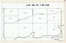 Sec 34, T 120, R 22, County Rd No 121, Rush Creek, Elm Creek, Hennepin County 1953 Revised 1963 Vol 2