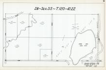 Sec 35, T 120, R 22, Elm Creek, Goose Lake, VanDake, Ruegg, Zopfi, Litke, Hennepin County 1953 Revised 1963 Vol 2