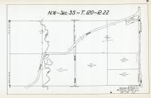 Sec 35, T 120, R 22, Elm Creek, Town Road, First German Lutheran Church, Hennepin County 1953 Revised 1963 Vol 2