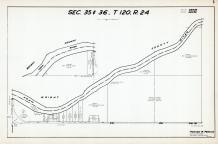 Sec 35 & 36, T 120, R 24, Crow River, Co Rd No 19, Wright County, Hennepin County 1953 Revised 1963 Vol 2