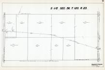 Sec 36, T 120, R 23, Co Rd No 116, State Hwy No 101, Co Ditch 21, Hennepin County 1953 Revised 1963 Vol 2
