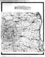 Houston County Outline Map, Houston County 1896