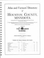 Title Page and Table of Contents, Houston County 1931