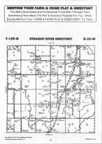 Straight River T139N-R35W, Hubbard County 1992 Published by Farm and Home Publishers, LTD