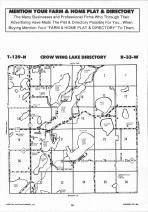 Crow Wing Lake T139N-R33W, Hubbard County 1992 Published by Farm and Home Publishers, LTD