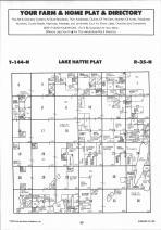 Lake Hattie T144N-R35W, Hubbard County 1992 Published by Farm and Home Publishers, LTD