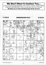 Hendrickson T143N-R33W, Hubbard County 1992 Published by Farm and Home Publishers, LTD