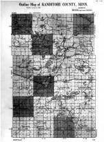 Kandiyohi County Outline Map, Kandiyohi County 1915