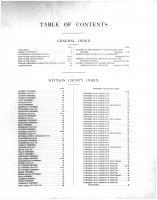 Table of Contents, Kittson County 1912