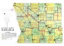 County Road Map, Kittson County 1959