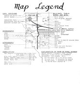Map Legend, Kittson County 1959