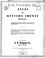 Title Page, Kittson County 1959