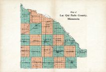 County Map, Lac Qui Parle County 1929