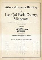 Title Page, Lac Qui Parle County 1929