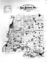Le Sueur County Outline Map, Le Sueur County 1898
