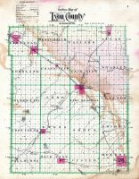 County Outline Map, Lyon County 1902
