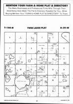 Twin Lake T144N-R39W, Mahnomen County 1992 Published by Farm and Home Publishers, LTD