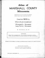 Title Page, Marshall County 1973