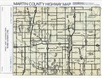 Martin County Highway Map, Martin County 1950c