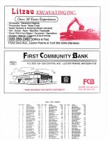 Bergen Township Owners Directory, Ad - Litzau Excavating Inc., First Community Bank, McLeod County 2003