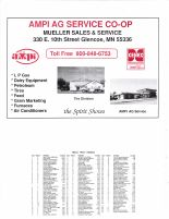 Glencoe Township Owners Directory, Ad - Ampi Ag Service Co-op, Mueller Sales and Service, McLeod County 2003