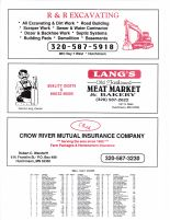 Lynn Township Owners Directory, Ad - R and R Excavating, Lang's Meat Market, Crow River mutual Insurance Co., McLeod County 2003