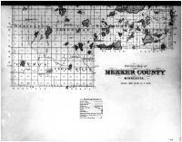 Meeker County Outline Map - Below, Meeker County 1897