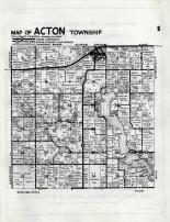 Acton Township, Meeker County 1952c Original
