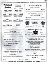 Forde Printing, Coleman Motors, Cokato Funeral Home, Clarence Otteson, Schutz & Walrath, Dahl, Brown, Meeker County 1952c Original
