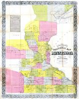 Minnesota 1856 Sectional Map 24x29, Minnesota 1856 Sectional Map