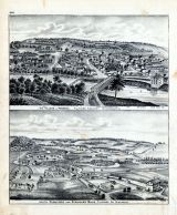 Bird's Eye View - Preston Village, South Rushford and Sprague's Mills, Fillmore County, Minnesota State Atlas 1874