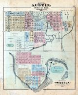 Austin, Preston, Minnesota State Atlas 1874