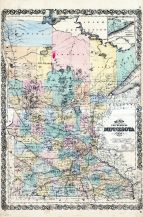State Map, Minnesota State Atlas 1874