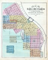 Stearns County - St. Cloud City, Minnesota State Atlas 1874